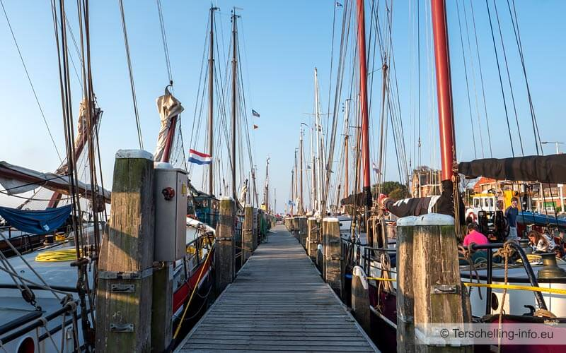 De haven in West-Terschelling